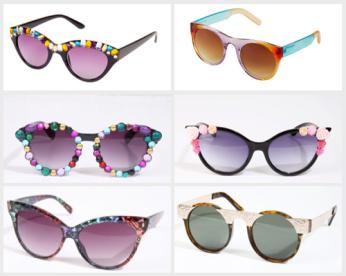 Diversi tipi di occhiali da sole